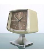 RHYTHM Alarm Clock Mantel Alarm 51136 PEDESTAL Chrome Pedestal RETRO Spa... - $239.00