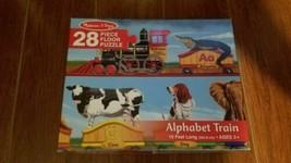 melissa & doug 28 piece FLOOR PUZZLE ALPHABET TRAIN 10 feet long - $17.82