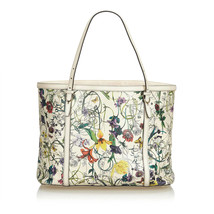 Pre-loved Gucci Bianco Avorio Others pelle Flora Nice Tote Italia - $750.22