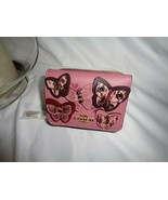 COACH 2922 OTT BUTTERFLY APPLIQUE SMALL TRIFOLD WALLET ROSE MULTI LEATHER - $89.10