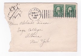 Naples, Ny March 21 1913 With Letter - $2.98