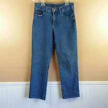 Lee Women Jeans Size 12 Short Classic Fit Straight Blue Medium Wash Denim  - $10.39