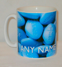 Viagra Blue Pill Mug PERSONALISED Funny Office Partner Penis Sexy Lover ... - $11.40