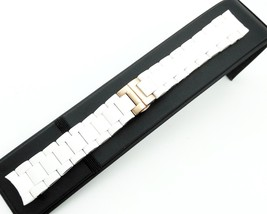 23mm White Rubber/Steel Strap/Band/Bracelet for Emporio Armani Watch AR5919 - $32.59