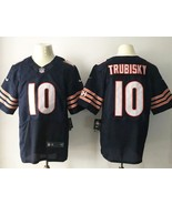 Men's Mitch Trubisky #10 Chicago Bears Elite Field Stitched Football Jersey Navy - $35.99
