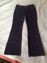 BLACK LABEL by Chicos Size 0 Blue Stitch Front Bootcut Leg Stretch Jeans - $4.99