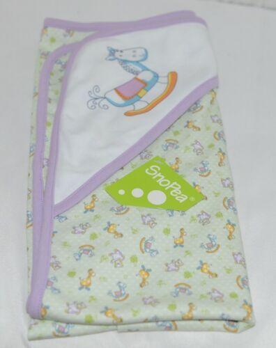 SnoPea Animal Design Hooded Towel Unisex Green Purple Yellow