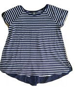 Premise Womens Size XL Ladies Blue White Striped Jersey Style Tee Loose ... - $9.90