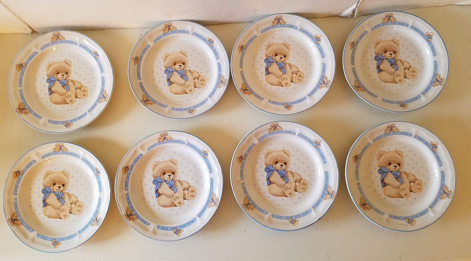 8 Tienshan Theodore Country Bear Stoneware Salad / Dessert Plates - 7 1/2  & 8 Tienshan Theodore Country Bear Stoneware and 18 similar items