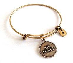 Bella Ryann Air Force Gold Charm Bangle Bracelet