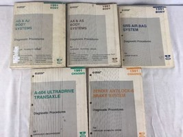 5- Chrysler Motors 1991 Manuals Chassis & Body Diagnostic Procedures Ply... - $42.52