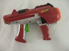 NERF Dart Tag 10 Shot Hyperfire Dart Gun Rotating Barrel Red Gray  - $12.86