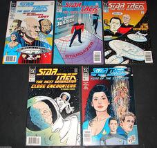 5 1990 DC Comics STAR TREK NEXT GENERATION 9 F 10 F 11 F 12 VG 13VG Comi... - $14.99