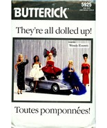 """1987 BUTTERICK 5925 11-1/2"""" Fashion Doll Gown Clothing Pattern UNCUT Dol... - $19.99"""
