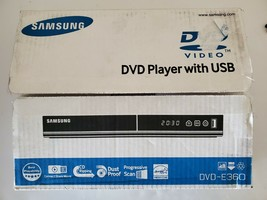 Samsung DVD-E360 DVD Player With USB, New Open Box CD Ripping Progressive Scan - $110.76