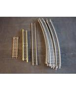 LOT (18) LIFE LIKE HO SCALE TRAIN TRACKS STRAIGHT and CURVED MODEL TRAIN... - $9.89