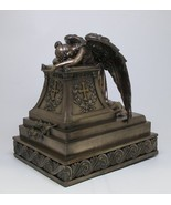 Mourning Angel Guardian Urn Surrounding with Cross. Grieving and Healing... - $158.40