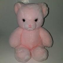 "VTG Karitas Tender Teddy Gund Pink Bear Rattle Lovey 9"" Baby Girl Toy 1983 - $98.95"