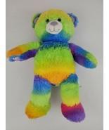 """Rainbow Tie Dye Neon Build A Bear 17"""" with Purple Glitter Nose Ears & Pa... - $13.50"""