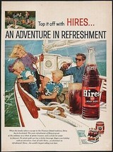 Vintage magazine ad HIRES ROOT BEER from 1959 family sailing bottle and ... - $12.99