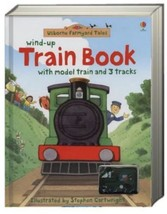 Wind Up Train Book with model train and 3 tracks Heather Amery (board bo... - $29.45