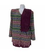 Adrianna Papell Womens Size 10 Purple 100% Silk 2 Piece Pant Suit Set Y2... - $28.04