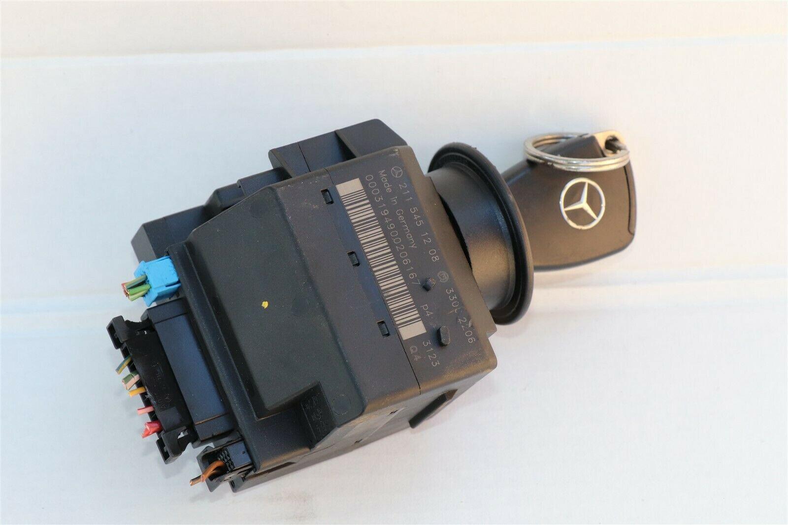 Mercedes Ignition Start Switch Module & Key Fob Keyless Entry Remote 2115451208