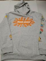 NWOT Nickelodeon Characters Men's Gray Hoodie Sweatshirt Large New Witho... - $49.49