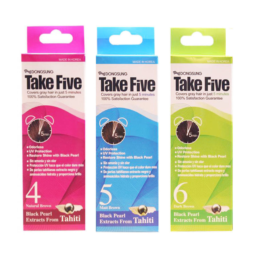 Primary image for Dongsung Take Five Covers Gray Hair 5 Mins Permanent Odorless Cream *1 Color