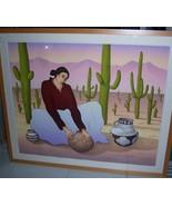 "RC Gorman Navajo Lithograph Art ""SAGUARO"" Signed Limited Edition 50/224 ... - $6,500.00"