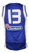 Dimitris Diamantidis #13 Greece Custom Basketball Jersey New Sewn Blue Any Size image 2