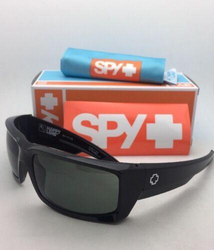 New SPY OPTIC Sunglasses GENERAL Shiny Black Frames with Happy Grey-Green Lenses