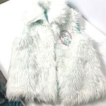 New Girls Disney Frozen Faux Fur Vest Size Medium 7 Costume Top Accent image 1