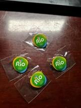 OLYMPIC PINS BADGE 2016 RIO DE JANEIRO BRAZIL NBC MEDIA SPONSOR GREEN LOGO - $9.69