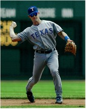 Michael Young Texas Rangers Unsigned Baseball Photo 1 - $8.95