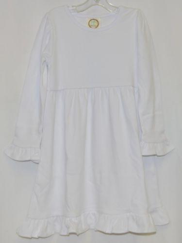 Blanks Boutique Long Sleeve Empire Waist White Ruffle Dress Size 4T