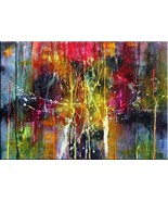 "MODERN ABSTRACT WALL ART Print on canvas 24x32"" - $27.23"