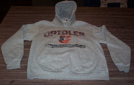 VINTAGE STYLE BALTIMORE ORIOLES MLB BASEBALL HOODIE SWEATSHIRT MEDIUM NE... - $44.55