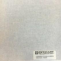 Zweigart Congress Cloth Blank 24 Mesh Needlepoint Canvas White  - $9.98+