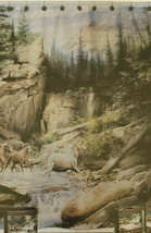 Horse Canyon Fabric Shower Curtain Horses Rustic Cabin Ranch Camp Lodge  - $41.46