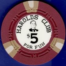 $5 Casino Chip, Harolds Club, Reno, NV. Pappy #3. 1959. B97. - $9.50