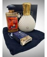 Lampe Berger Paris France Oil Lamp White Gold Tear Drop Clam New Orleans Fruity  - $49.49
