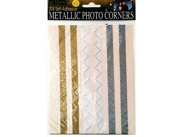 Pioneer Self-Adhesive Metallic Photo Corner Stickers #MPC-1
