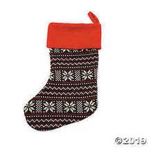 Grey Snowflake Knit Stocking - $12.49