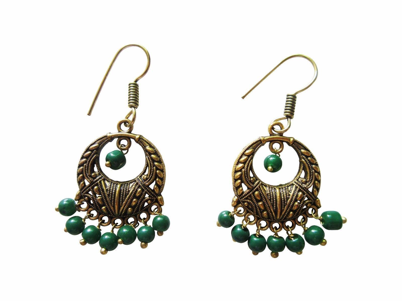 Ethnic Earrings Bollywood Fashion Jewelry Oxidized Pearl Indian Women's Fashion