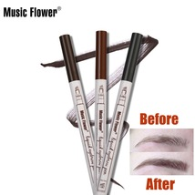 Music Flower Waterproof Microblading Fork Tip Eyebrow Pen  - $9.99