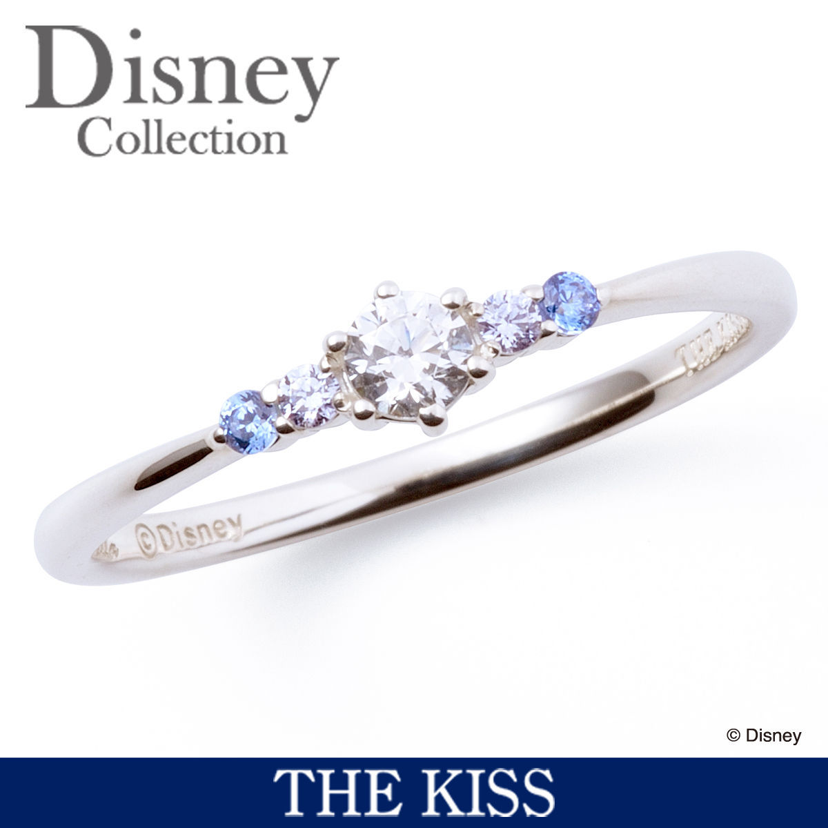 Disney × THE KISS  Princess Cinderella Sterling Silver 925 Ring 4 6 7 FS Japan