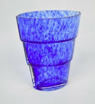 Kosta Boda Vase Ann Wahlstrom Mezzo Blue Tiered Art Glass Signed - $39.60