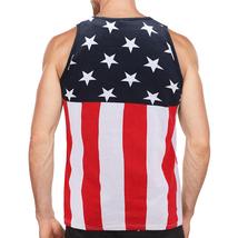 Men's USA American Flag Sleeveless Shirt Summer Beach Patriotic Tank Top image 3