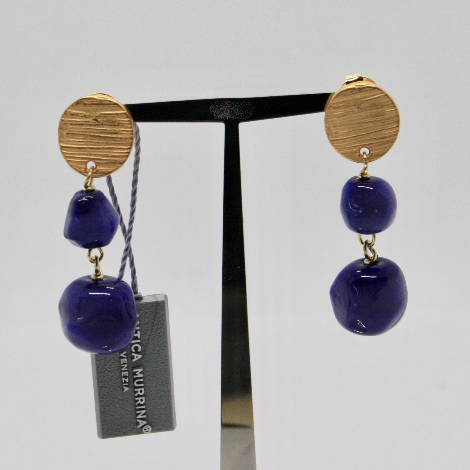 DROP EARRINGS ANTICA MURRINA VENEZIA WITH MURANO GLASS BLUE OR572A06